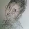 Portrait, Skizze, Kinder, Schwarz