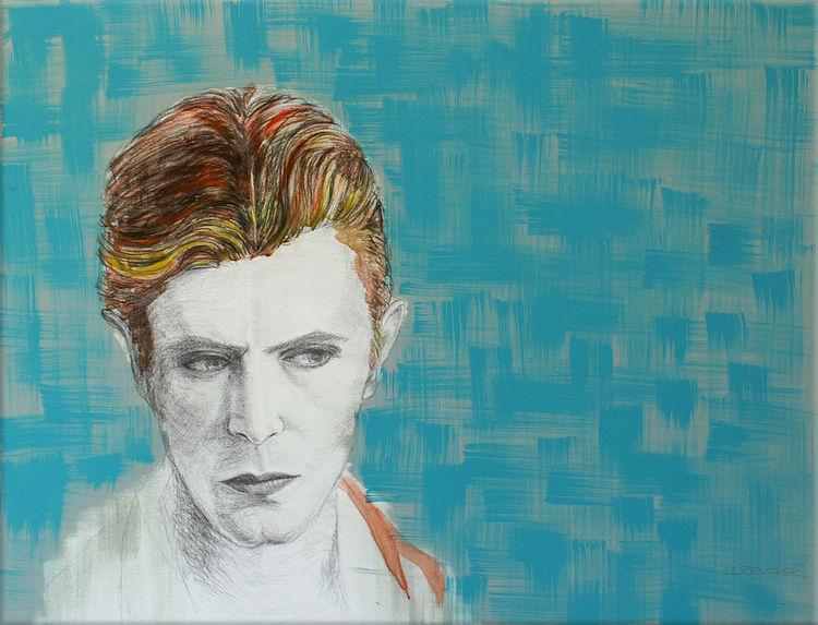 Farben, Grafit, Portrait, Chacoral, Davidbowie, Zeichnung