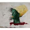 Frau, Gemälde, Ölsketch, Gesicht