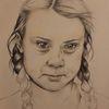 Zukunft, Portrait, Greta thunberg, Zeichnungen