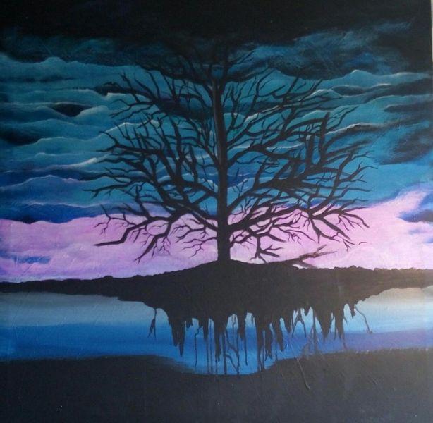 Traum, Weiß, Baum, Blau, Stärke, Lila