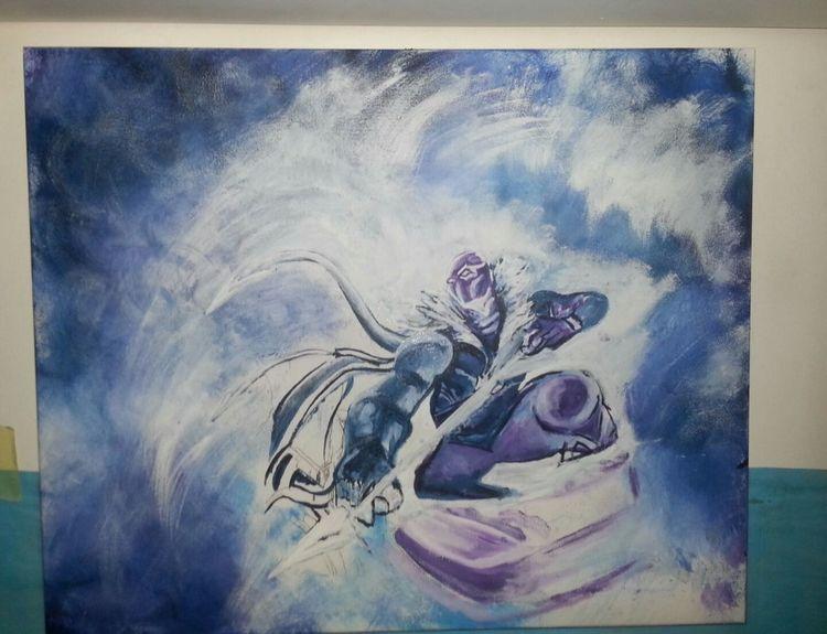 Actionfigur, Gemälde, Fantasie, Malerei