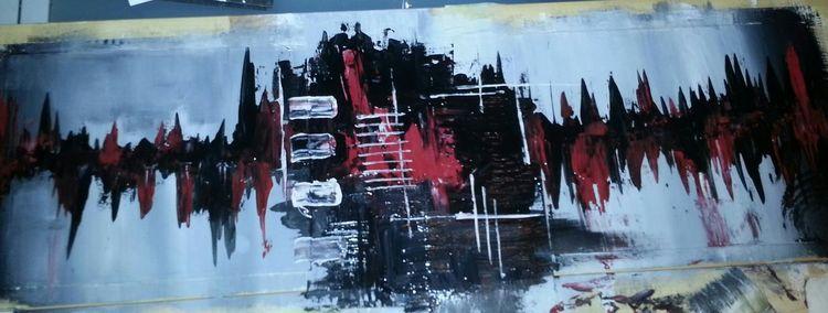 Energie, Acrylmalerei, Lebendig, Malerei, Chaos, Auftrieb