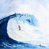 Wasser, Welle, Natur, Aquarell