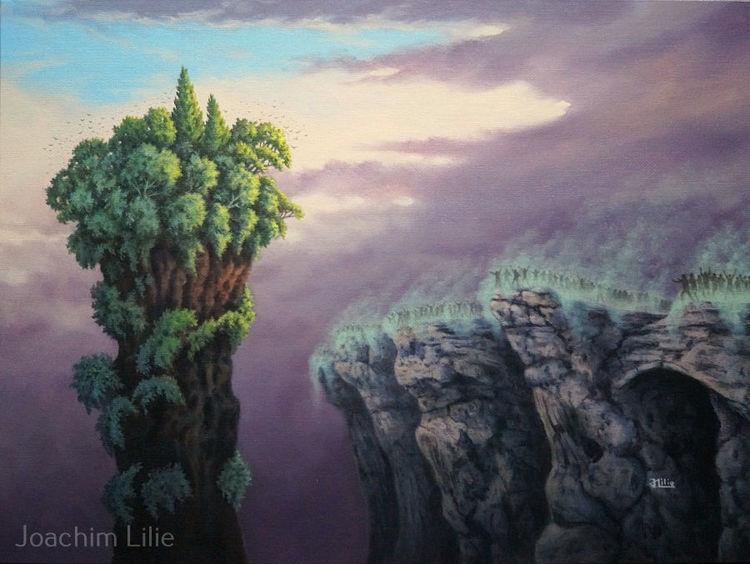 Menschen, Surreal, Ölmalerei, Baum, Umweltverschmutzung, Pflanzen