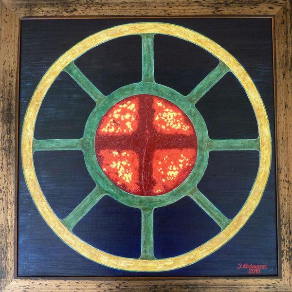 Bronzezeit, Kreis, Rad, Malerei