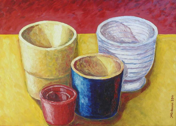 Malerei, Topf, Studie
