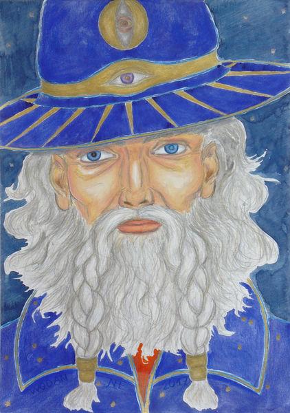 Wodan, Allvater, Seher, Mythologie, Einauge, Nachtgott