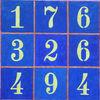 Zahlen, Zahlenquadrat, Malerei,