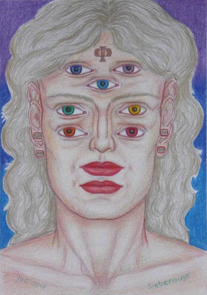 Menschen, Informationszeitalter, Augen, Mythologie, Vorstellung, Symbolismus
