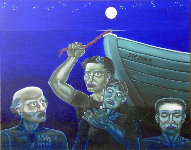 Symbolismus, Überfahren, Mittelmeer, Malerei