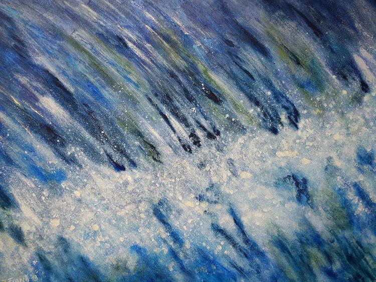 Strudel, Wasser, Blau, Malerei, Gischt