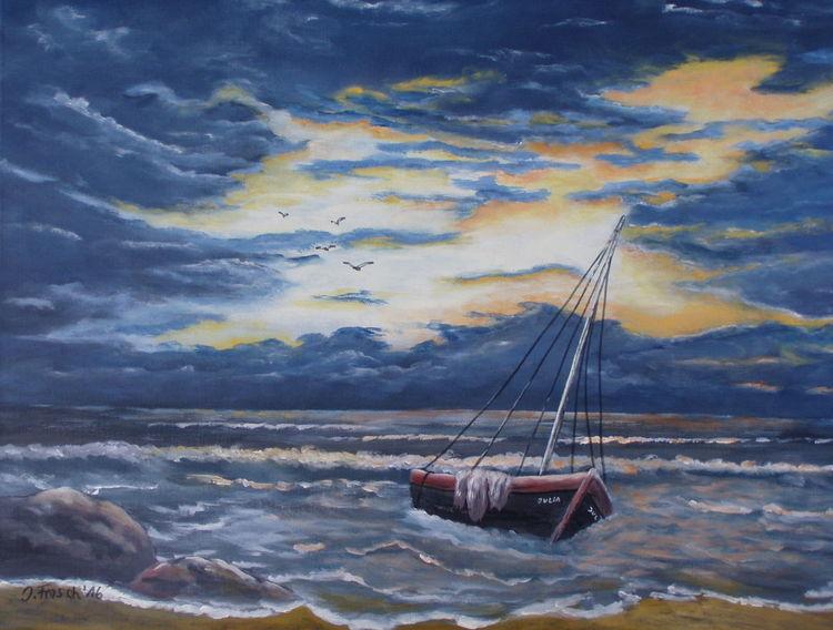 Felsen, Wasser, Wolken, Segelboot, Himmel, Boot