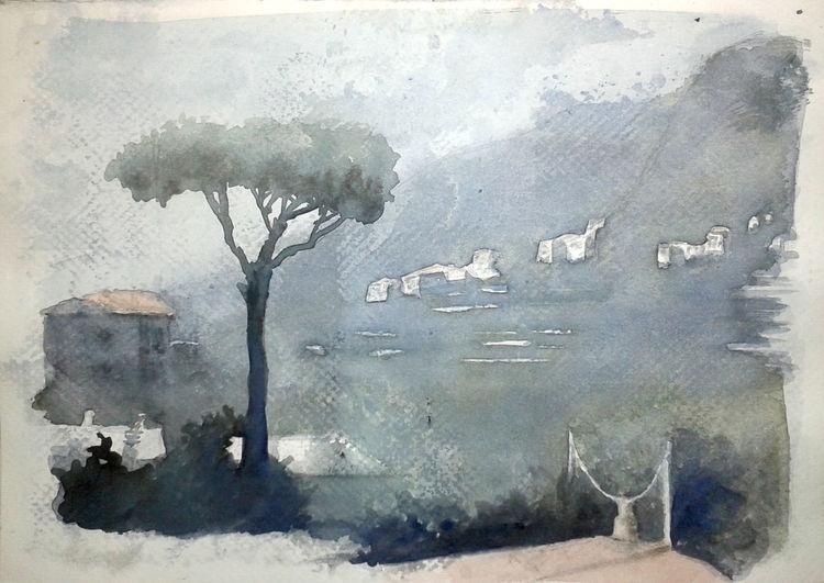 Skizze, Aquarellmalerei, Landschaft, Aquarell, Skizzenbuch