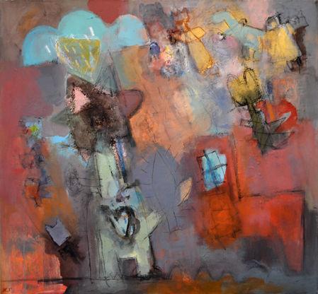 Figur, Heide, Abstrakt, Malerei