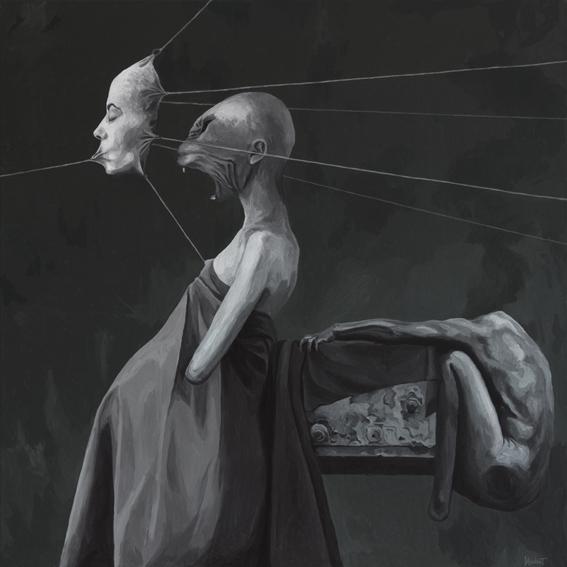 Figural, Surreal, Portrait, Malerei, Acrylmalerei