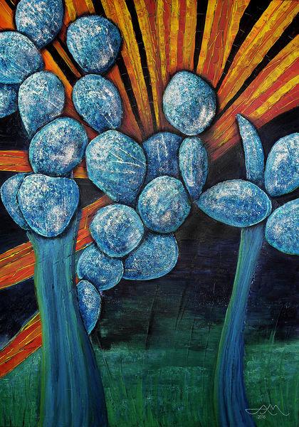 Ludwigia, Kaktus, Nachtlilie, Repens, Blumen, Strelitzia