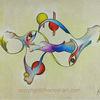 Akt, Ölmalerei, Abstrakt, Fusion