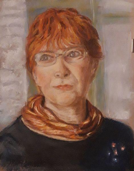 Portrait, Pastellmalerei, Selbstportrait, Zeichnungen