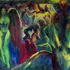 Sperling, Weiß, Rot, Malerei