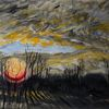 Siggermow, Rügen, Sonnenaufgang, Malerei