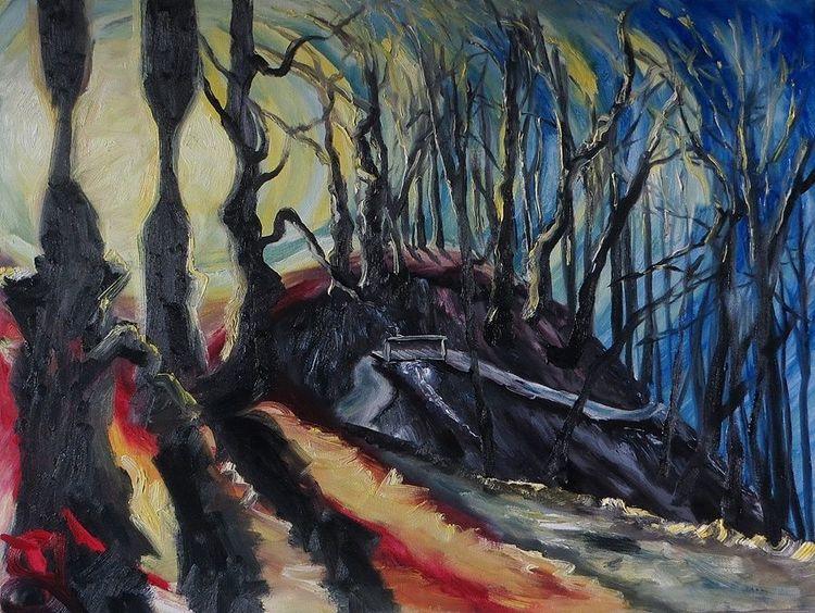 Sonne, Uferweg, Ranzow, Malerei