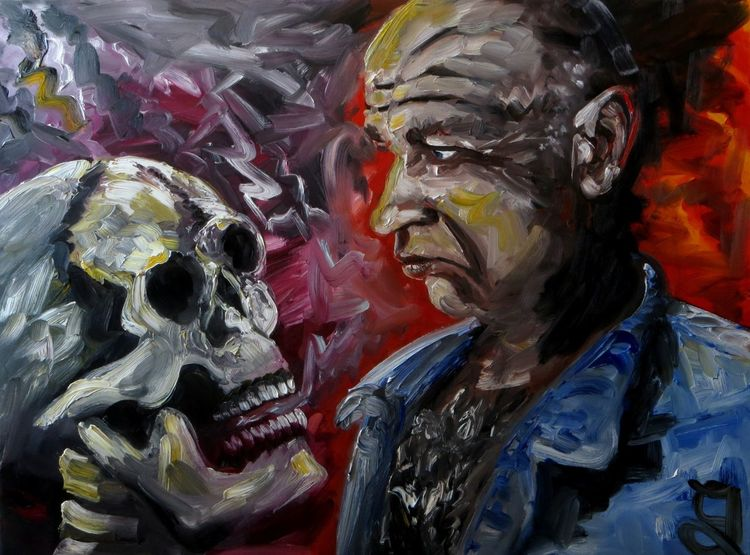 Tod, Schädel, Malerei