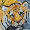 Tiger, Mischtechnik, Malerei