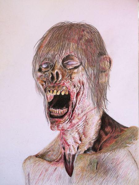 Portrait, Zombie, Blut, Leiche, Tod, Verwesung