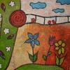 Spatz, Blumen, Traurig, Malerei