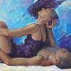 Ölmalerei, Mädchen, Realismus, Figural