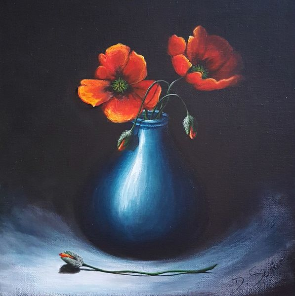 Blumen, Mohnblumen, Malerei