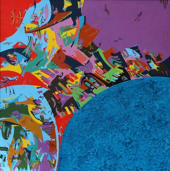 Blau, Meer, Farben, Meditation, Gemälde, Malen