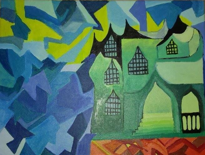 Expressionismus, Malerei, Acrylmalerei, Abstrakt, Gemälde,