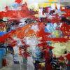 Abstrakt, Sommer, Rot, Malerei