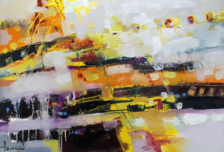 Abstrakt, Interior design, Gelb, Sonne, Orange, Malerei