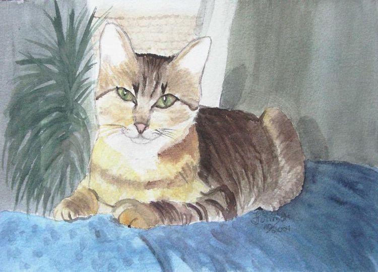 Katze aquarell tier, Aquarell, Katze