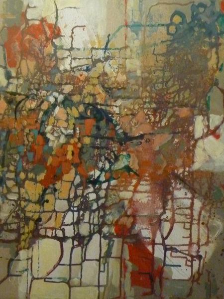 Bunt, Mischtechnik, Abstrakt, Acrylmalerei, Malerei