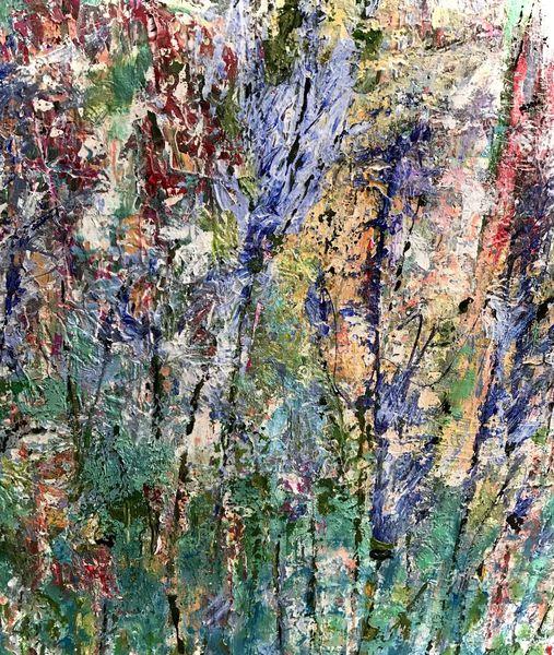Blumen, Wiese, Bunt, Malerei