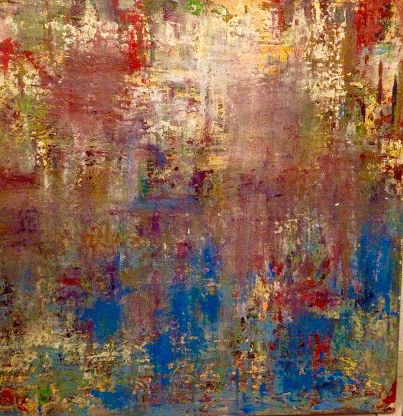 Laub, Abstrakt, Wasser, Bund, Malerei, Herbst