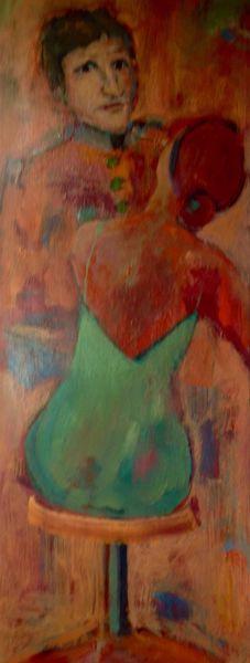 Mann, Frau, Bunt, Malerei