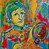 Frau, Bunt, Mann, Malerei