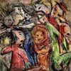Menschen, Freunde, Feier, Malerei