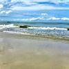 Sand, Wasser, Himmel, Fotografie