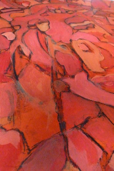 Rot, Menschen, Rose, Malerei