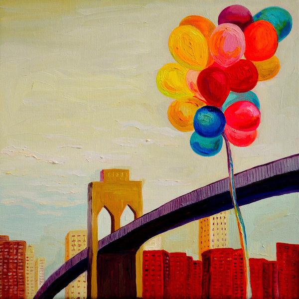 Stadt, Ambiente, Malerei