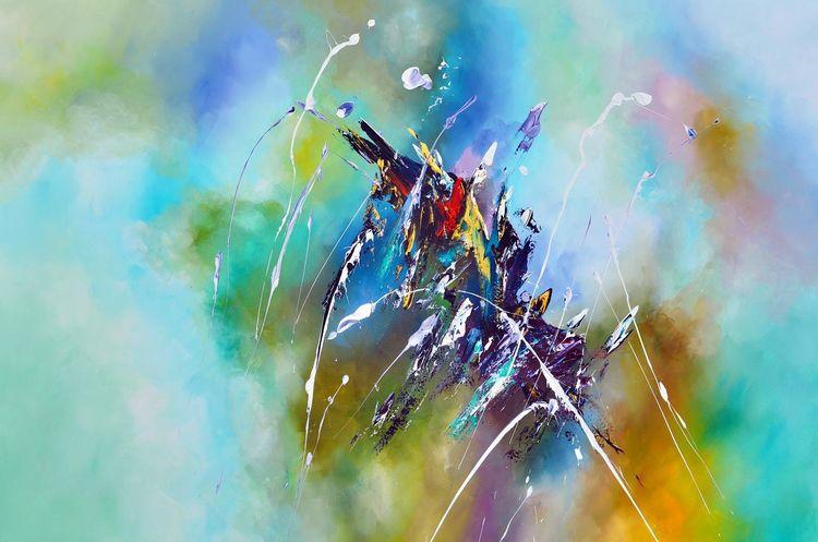 Modern, Gemälde, Abstrakt, Malerei,