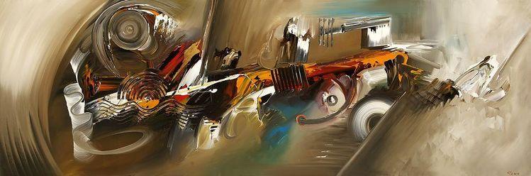 Abstrakt, Modern, Malerei,