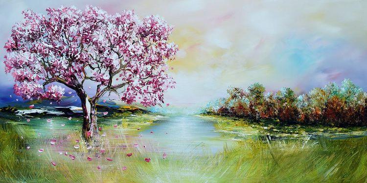 Modern painting original, Landschaft, Natur, Malerei,