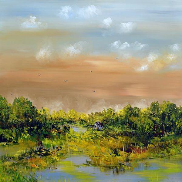 Landschaft, Fantasie, Modern, Natur, Malerei,